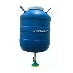 Фото 26 - Душ для дачи с подогревом воды 50 л синий.